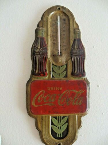 VINTAGE DRINK COCA-COLA TWIN BOTTLE ADVERTISING ORIGINAL 1940