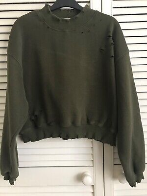 Honey punch. Top shop. sweatshirt. green. size M