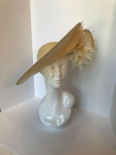 NWT PHILIP TREACY fascinator hat in beige/ivory, Kentucky derby hat