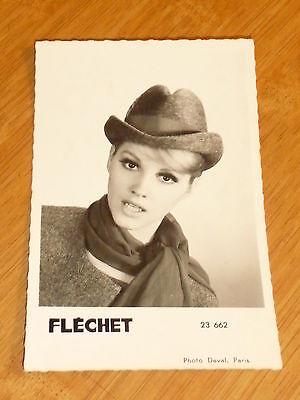 Ancien photo deval paris publiciter des chapeaux flechet format carte postal n22