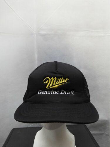 Vintage Miller Genuine Draft Mesh Trucker Snapback Hat