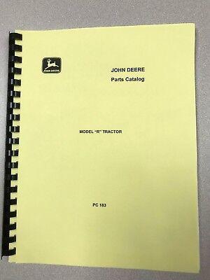 John Deere Model R Tractor Parts Manual - Free Shipping