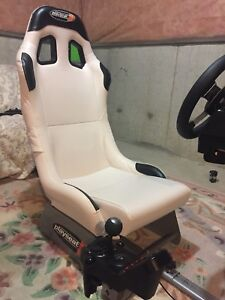 Logitech g27 racing wheel with play seat