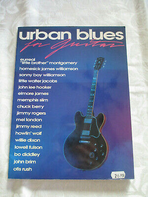 URBAN BLUES FOR GUITAR - VOICE and PIANO SHEET MUSIC LESSON BOOK - VINTAGE 80'S? Blues Country Piano