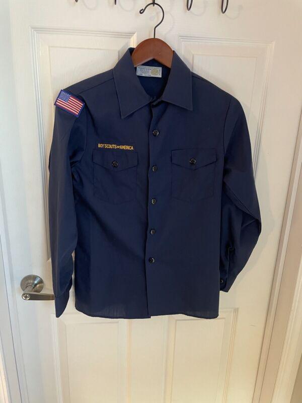 Boy's Cub Scout Uniform Blue Shirt Youth Large