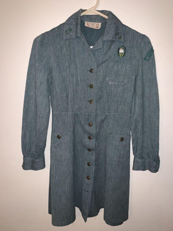 Vintage 1940s Girl Scout Uniform-Dress