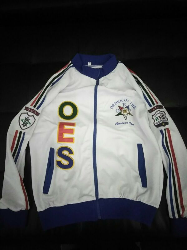 Order Of Eastern Star Track Jacket.....Size Medium--3xl....FULLY Embroidered!!!