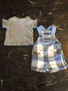 Boys size 3-6 month summer clothes.