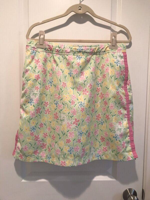 Lilly Pulitzer Golf Skirt Skort Butterfly Lion Ribbon Adjustable Waist 14