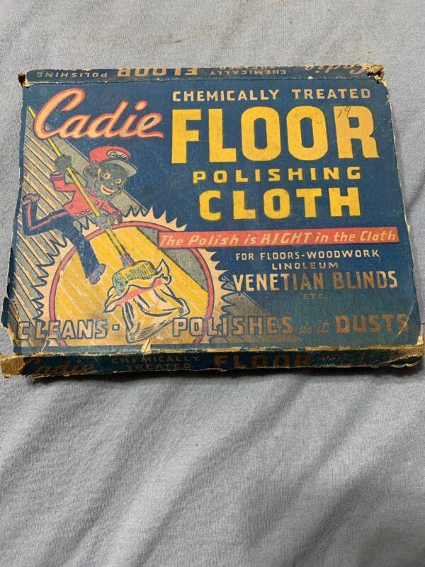 Early Vintage Rare Cadie Floor Cloth Original NY Black Memorabilia