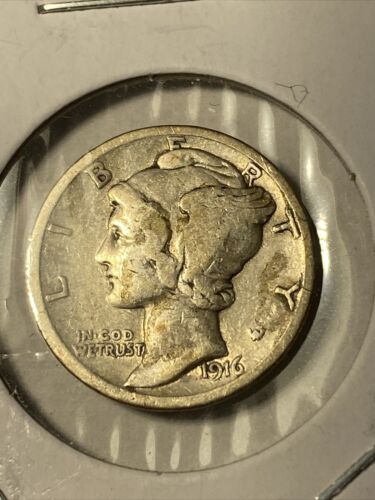 1916 MERCURY DIME COIN- Nice Condition. - $6.00