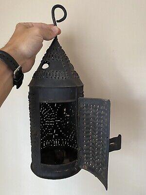Revolutionary War Period Punched Tin Lantern, ref. George Neumann
