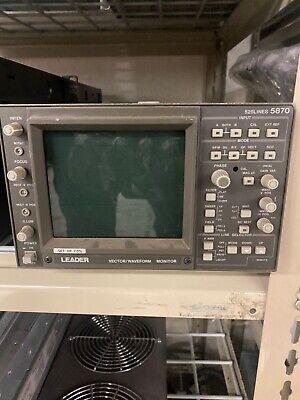 Leader 525 Lines 5870 Vectorwaveform Monitor