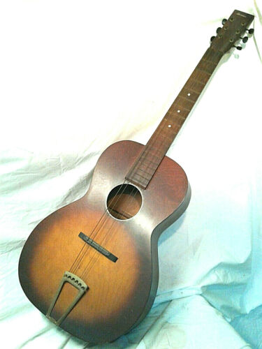 Old Antique Parlor Acoustic Guitar  Made By BELDEN Blues or slide play 1930