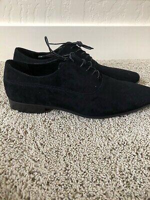 Aldo Men Black Suede Studded Dress Shoes/Loafers Black Suede Dress Shoe
