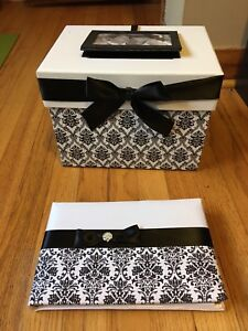 Wedding guest book and card box. Never used