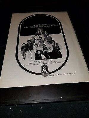 The Five Stairsteps Dear Prudence Rare Original Promo Poster Ad Framed!