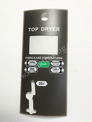 70380101 Top Dryer Overlay For Huebsch Single Coin Replaces 431578