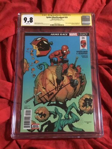CGC SS 9.8~SPIDER-MAN DEADPOOL #24~SIGNED BY TOM HOLLAND~MARVEL COMICS
