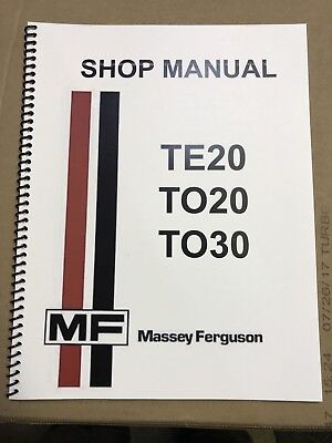 To30 Ferguson Tractor Technical Service Shop Repair Manual Massey To 30