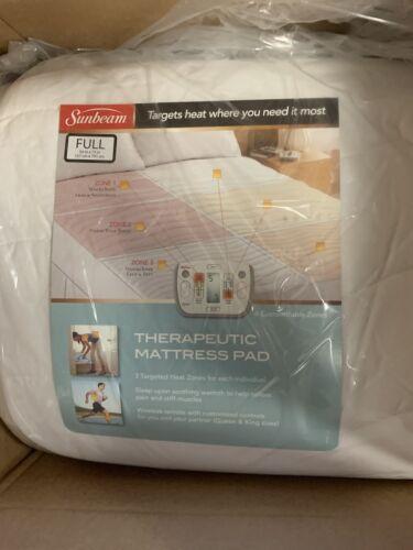 Sunbeam Therapeutic Heated Mattress Pad, Full MSU7RFS-C000-1