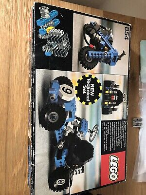 VINTAGE LEGO TECHNICAL SET No 854 BLUE GO CART WITH BOX . Lego 854 Technic 854