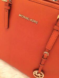 Orange Michael kors bag/tote