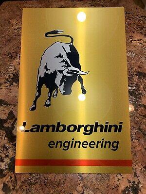 Rare Lamborghini Engineering Racing Vintage Style Reproduction Garage Sign