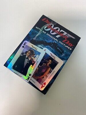 Sealed Deck Playing Cards James Bond Die Another Day 007 NOS Original Pictures