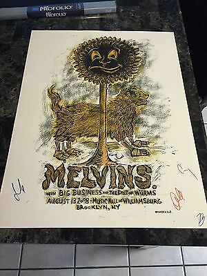 Melvins - Brooklyn, NY 2008 - silkscreen poster by Dan Grzeca - BAND SIGNED