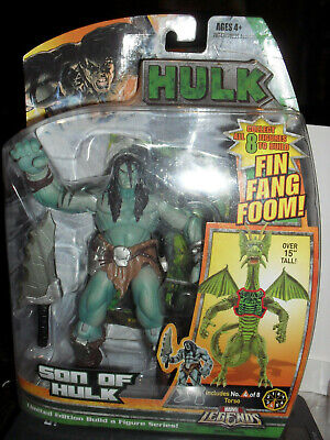 2007 HASBRO MARVEL LEGENDS FIN FANG FOOM BAF SERIES HULK SON OF HULK FIGURE MOC