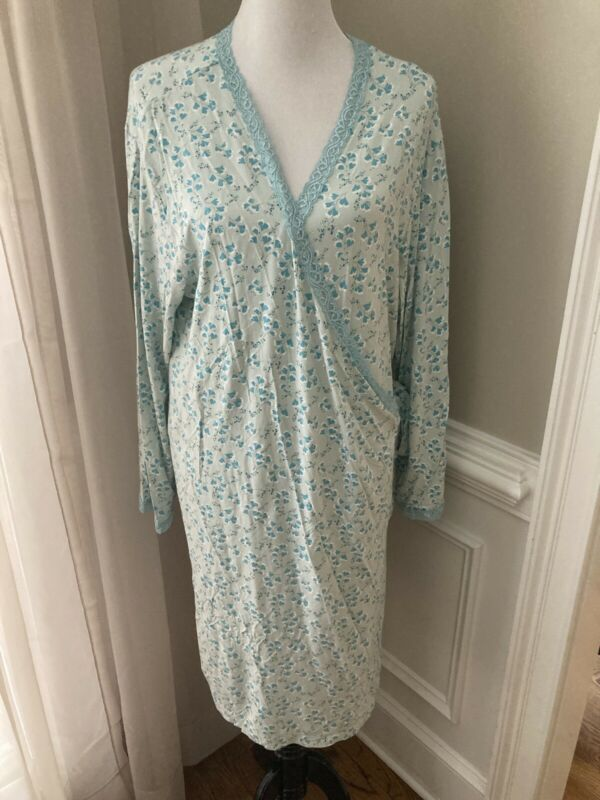 Gap Maternity Bath Robe Nightgown Nursing Hospital Xl Sleeves
