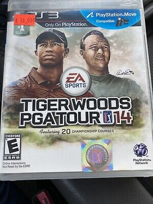 Tiger Woods PGA Tour 14 (Sony PlayStation 3, 2013) Great Condition
