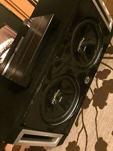 ^^*COMPETITION SONY SUBS 1300 WATTS EACH 1000 WATT ROCKFORD AMP!