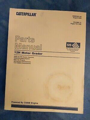 Caterpillar 12h Motor Grader Parts Manual