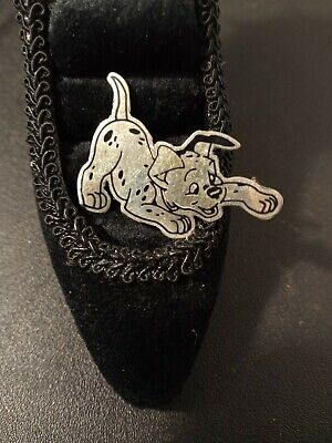 Vintage DISNEY 101 Dalmatians Sterling Silver Pin Mexico 925