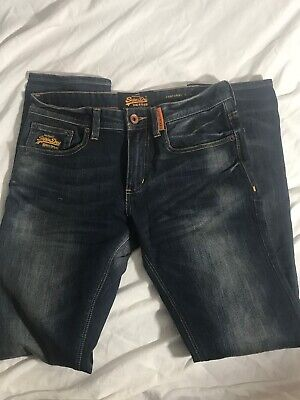 SuperDry Mens 30 x 32 Corporal Slim Jeans Dark Wash