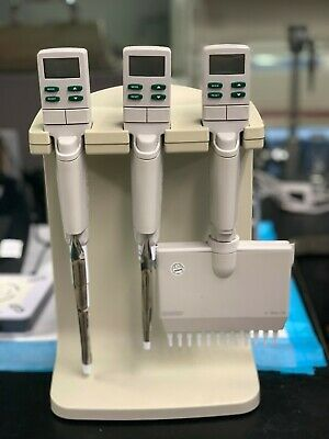 E3 Rapid Charge Stand Rainin With Single And Multichannel Pipettes