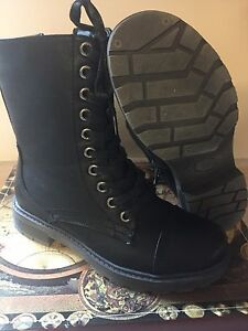 Brand new military style boots size 8