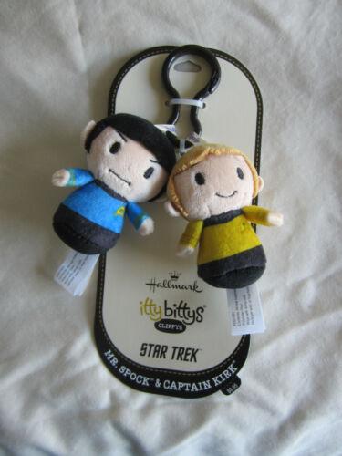 Hallmark Itty Bittys Clippys Star Trek Mr. Spock and Captain Kirk New