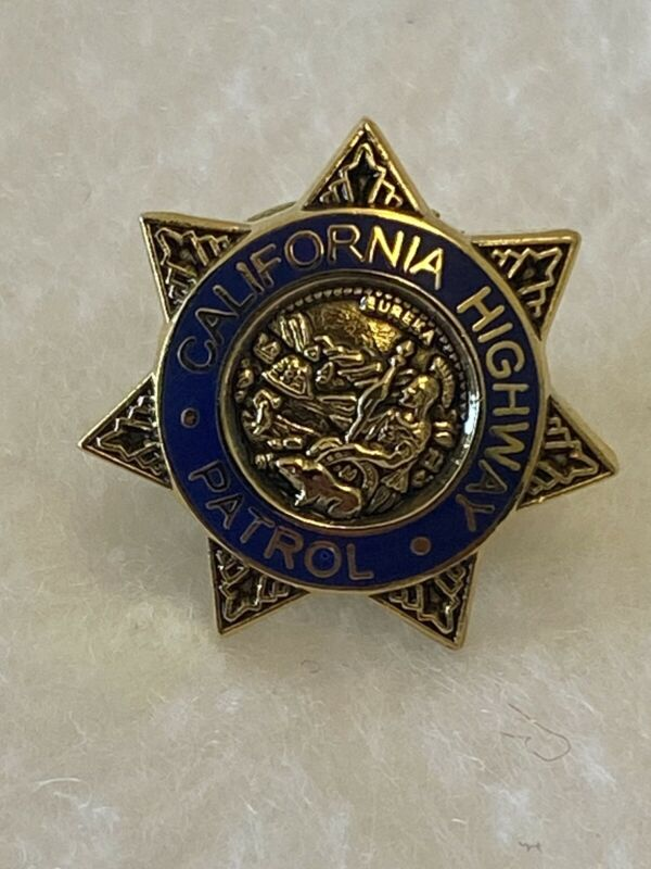 California Highway Patrol Pin Star - Rare Vintage Police Pin