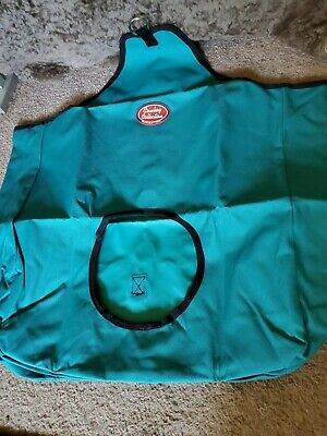 Cowboy Collection Heavy Denier Nylon Feed Horse Hay Bag  Stall Trailer~Teal~New