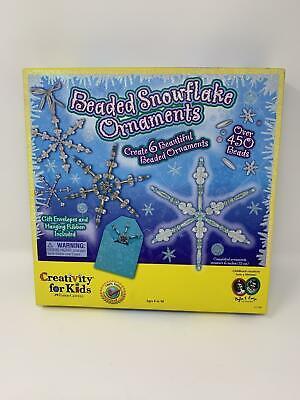 Creativity for Kids Beaded Snowflake Ornaments - Create Christmas Tree Ornaments