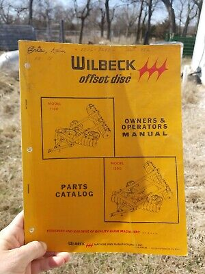 Wilbeck Offset Disc Owners And Operators Manual Farming