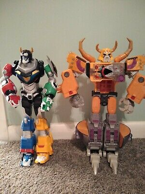 "Hasbro Unicron Transformers Armada & Playmates Voltron 14"" lights & sounds!"