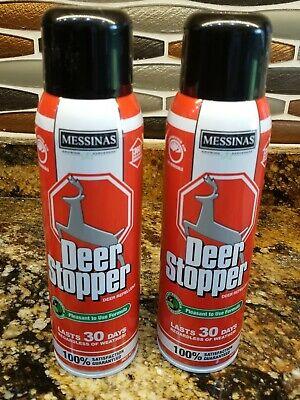 LOT OF 2 - Messinas Deer Stopper For Deer Elk Moose Animal Repellent Spray 15 -