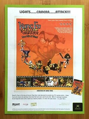 Kung Fu Chaos Xbox 2003 Vintage Print Ad/Poster Official Authentic UK Promo Art!
