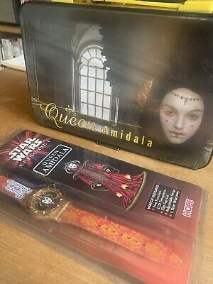 star wars episode 1 Queen Amidala Watch And Colouring Case 1999