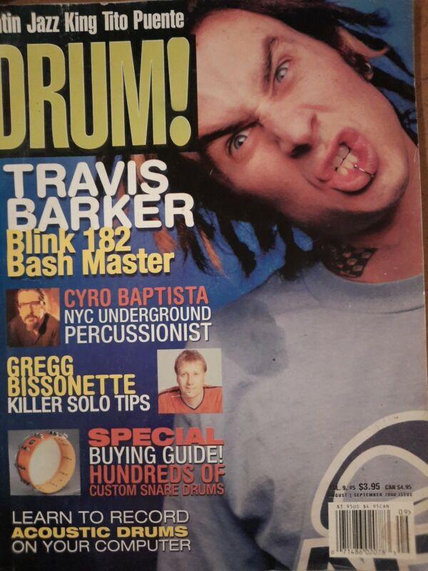 Rare Vintage Drum Magazine Travis Barker Blink 182 Cover Story Sept 2000