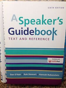 A Speaker's Guidebook Text and Reference London Ontario image 1